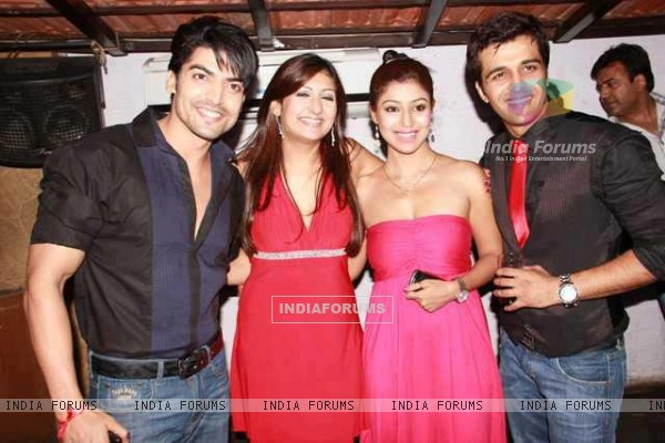 Gurmeet, Debina with Sachin at Juhi's winning party of Bigg Boss
