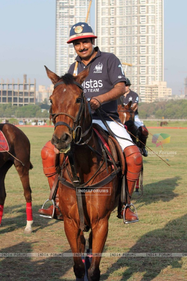 Maharaja of Jaipur Narendra Singh at 3rd Asia Polo match at RWITC. .