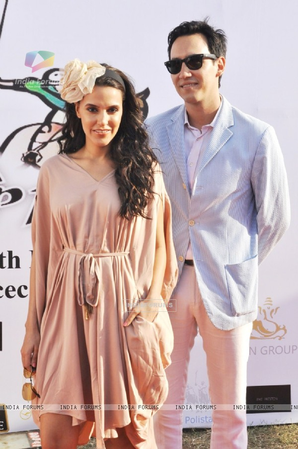 Neha Dhupia and Sofia Hayat at the 3rd Asia Cup Polo Match between India vs England in Mumbai