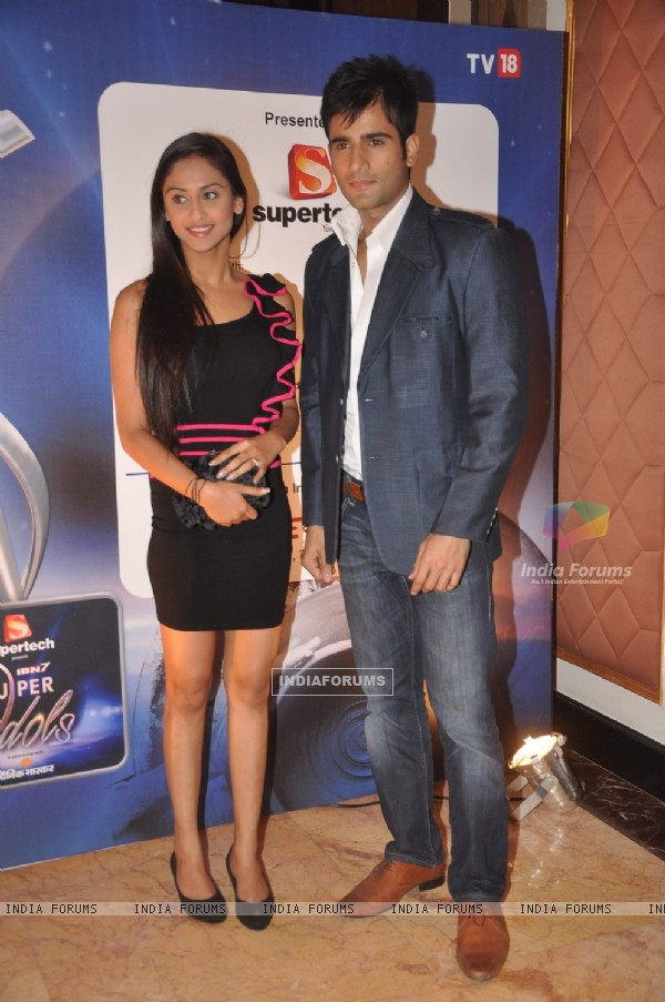 Krystle & Karan attended the IBN 7 Super Idol Awards at Hotel Taj Lands End in Bandra, Mumbai. .