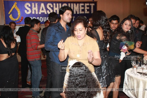 Anas Rashid and Neelu Vaghela at Shashi-Summit success party for their shows