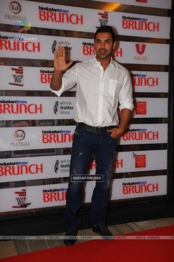 John Abraham at Hindustan Times Brunch Dialogues event