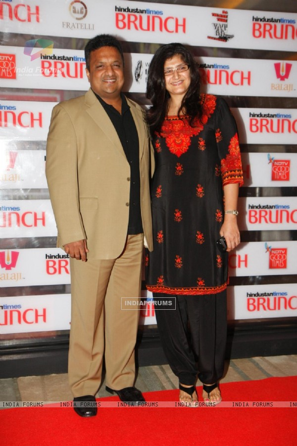 Sanjay Gupta and Anu Gupta at Hindustan Times Brunch Dialogues event