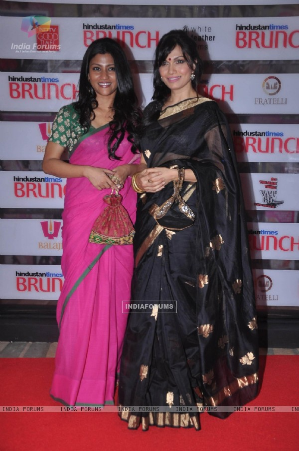 Konkona Sen Sharma and Maria Gorretti at Hindustan Times Brunch Dialogues event