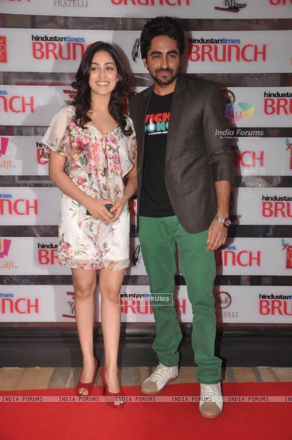 Yami Gautam with Ayushmann at Hindustan Times Brunch Dialogues event
