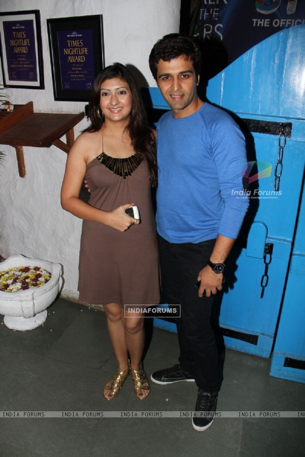Juhi Parmar and Sachin Shroff at UTV Stars Walk of the Stars after party