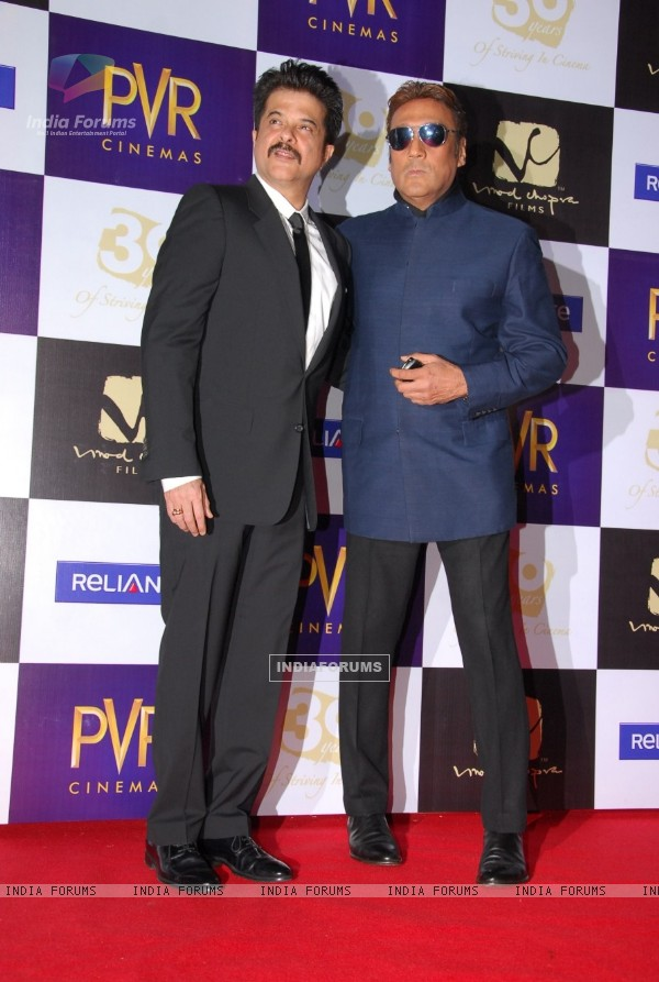 Anil Kapoor and Jackie Shroff at premiere of film Parinda at PVR