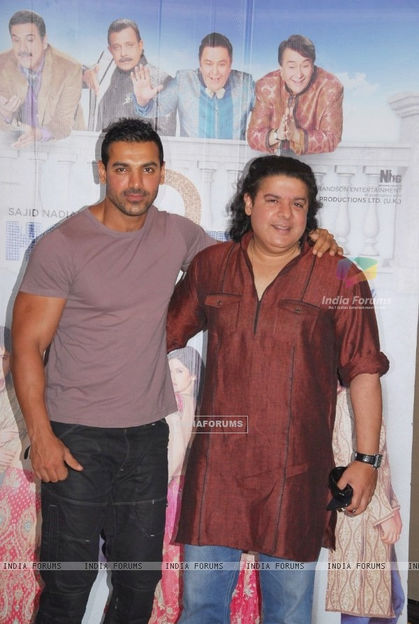 John Abraham and Sajid Khan at IIFA 2012 Voting Weekend