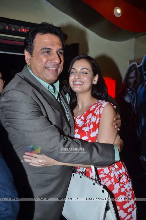 Boman Irani and Dia Mirza at Munna Bhai film Chat Show