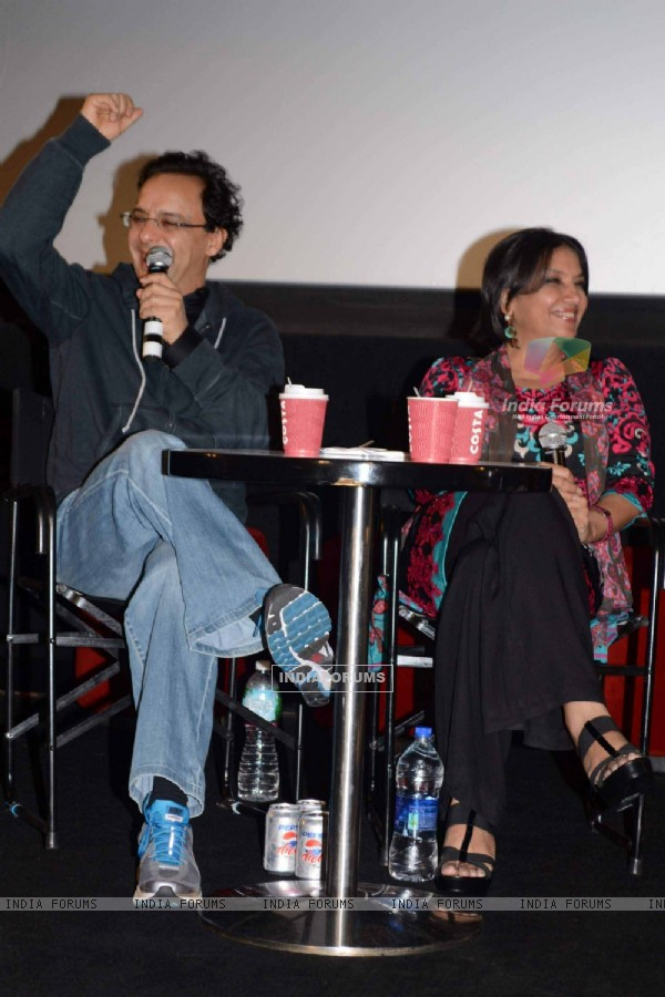 Vidhu Vinod Chopra and Shabana Azmi at Khamosh film screening