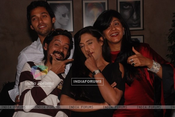 Rati Pandey, Sumit Vats, Ila Bedi Dutta at celebration of 100 episodes of Hitler Didi