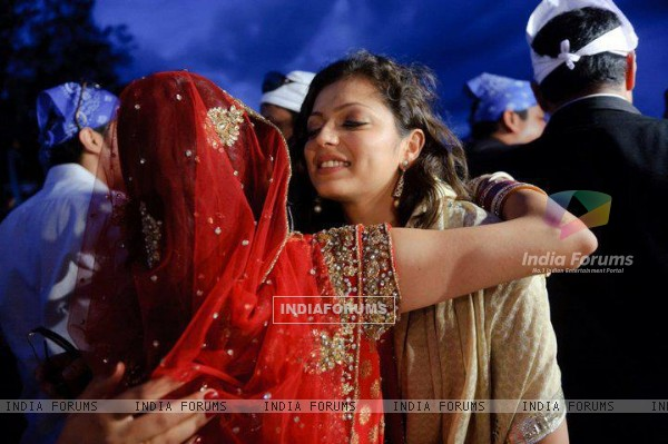 Drashti at her friend`s wedding