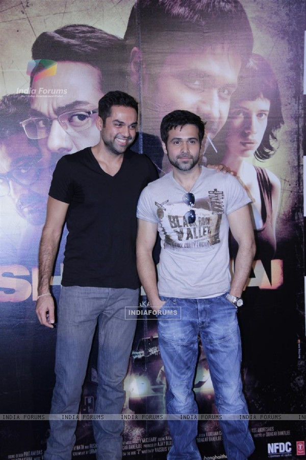 Abhay Deol and Emraan Hashmi at First look launch of 'Shanghai'