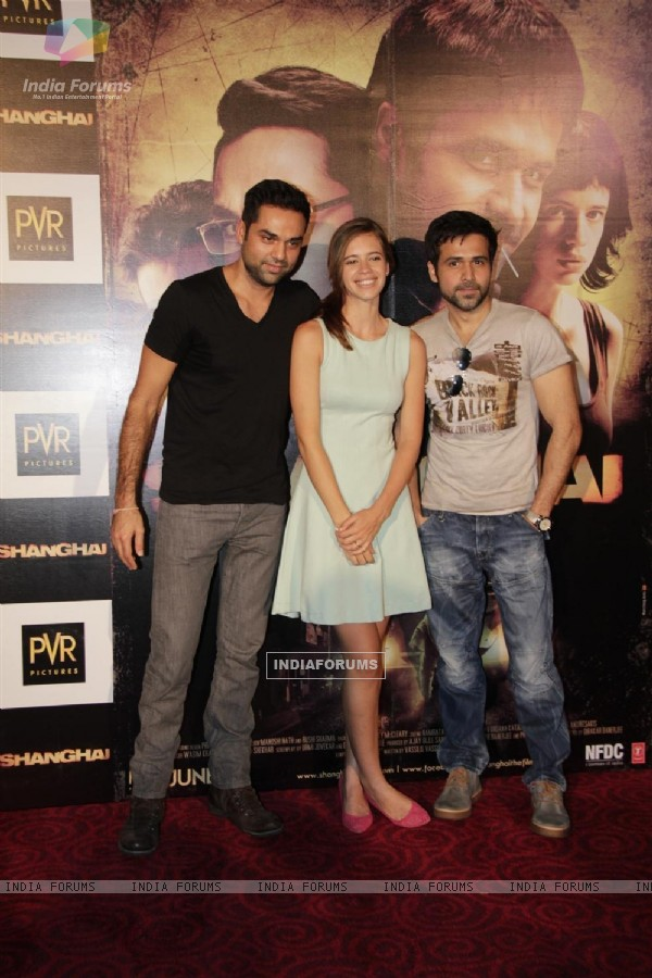 Abhay Deol, Kalki Koechlin and Emraan Hashmi at First look launch of 'Shanghai'