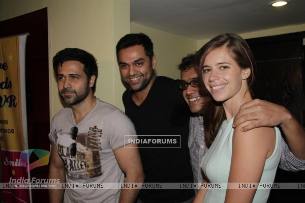 Abhay Deol, Kalki Koechlin, Dibakar Banerjee and Emraan Hashmi at First look launch of 'Shanghai'
