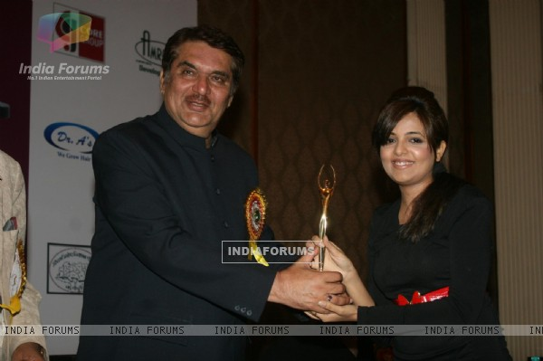 Raza Murad and Sugandha Misra at Golden Achiever Awards 2012
