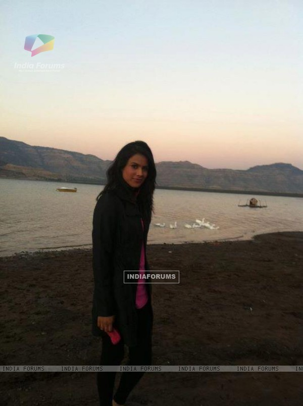 Nia Sharma After Shooting for Star Parivar Song