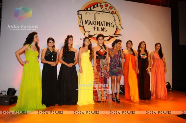 Sukirti Kandpal, Jiaa Manek, Pooja Gor and others at the Launch of Marinating Films Calendar 2012