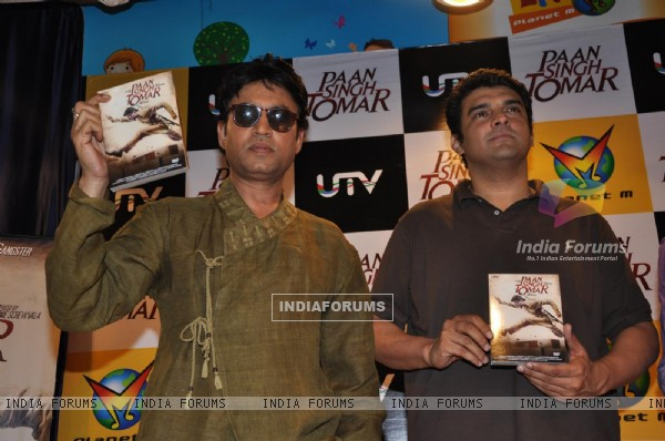 Irrfan Khan and Siddharth Roy Kapur at Paan Singh Tomar DVD Launch
