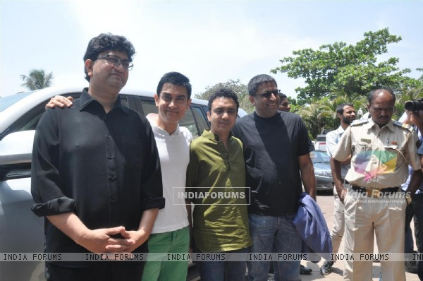 Aamir Khan, Prasoon Joshi, Ram Sampath at the launch of song �Satyamev Jayate Satyamev Jayate�
