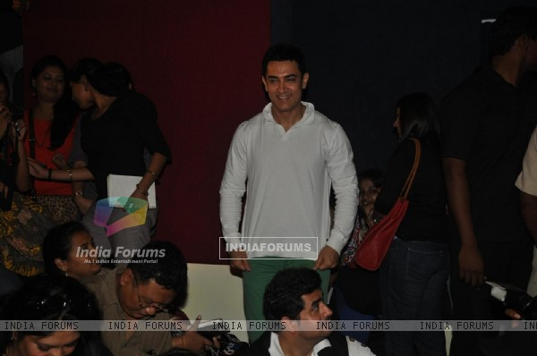 Aamir Khan during his first Television Reality Show unveiled with the song of �Satyamev Jayate""