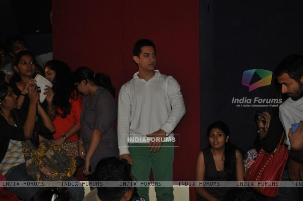 "Aamir Khan during his first Television Reality Show unveiled with the song of ""Satyamev Jayate"""