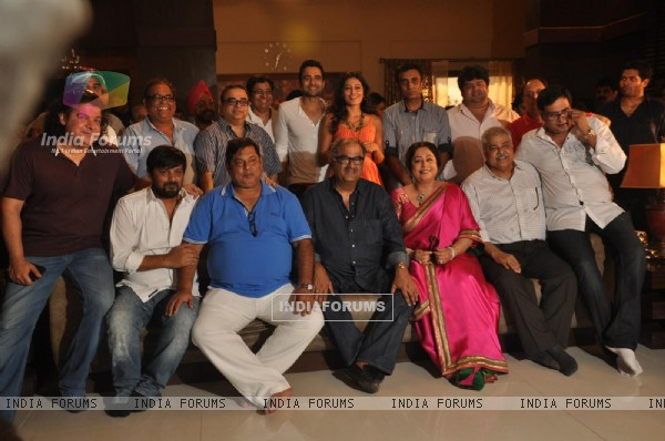 Jackky Bhagnani, Kirron Kher and Nidhi Subbaiah during the Mahurat of Movie �Ajab Gazabb Love�