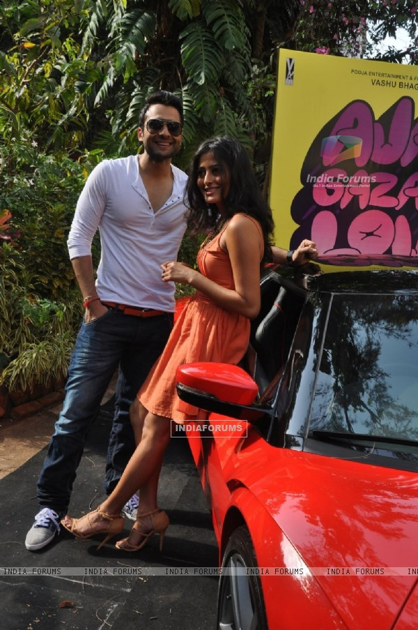Jackky Bhagnani and Nidhi Subbaiah during the Mahurat of Movie �Ajab Gazabb Love�