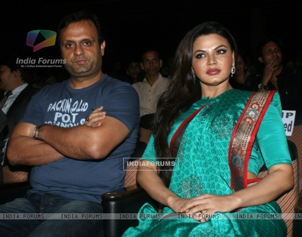 DJ Sheizwood and Rakhi Sawant at Dr. Ambedkar Awards