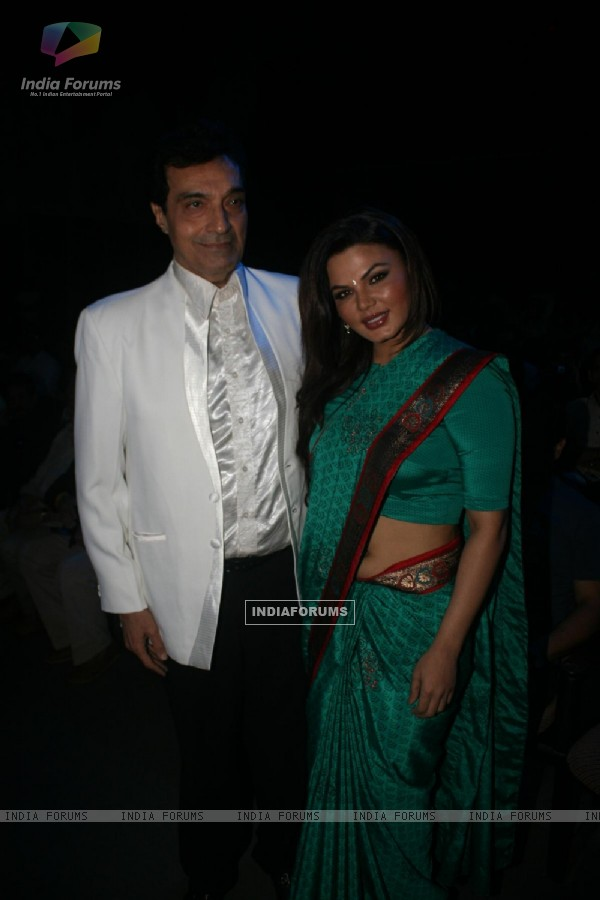 Dheeraj Kumar and Rakhi Sawant at Dadasaheb Ambedkar Awards