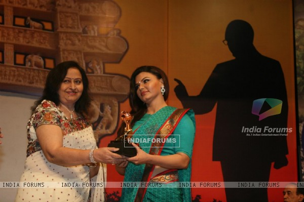 Geeta Shah and Rakhi Sawant at Dadasaheb Ambedkar Awards