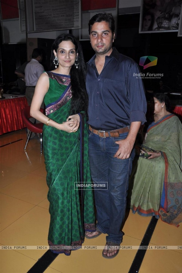 Varun Badola and Rajeshwari Sachdev at Premiere of Kannad film 'Parie' at Cinemax