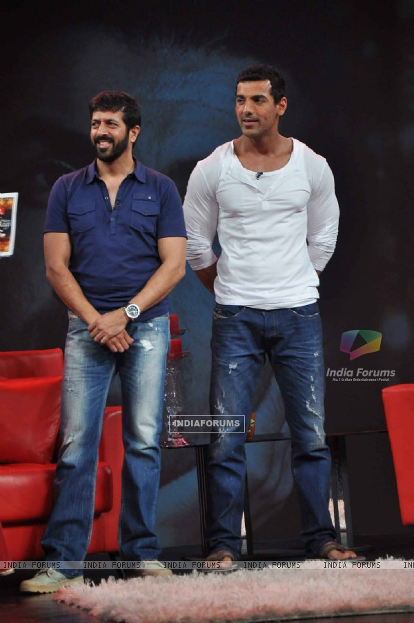 John Abraham on the sets of NDTV show Issi Ka Naam Zindagi