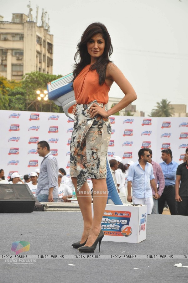 Chitrangda Singh at Gillete shave event