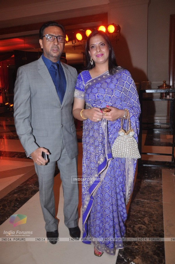 Gulshan Grover and Pratibha Advani at Bappa Lahiri and Taneesha Verma Wedding Reception