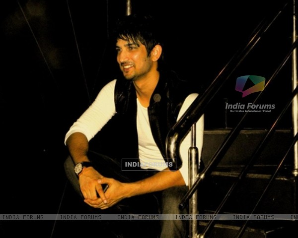 Sushant Singh Rajput poses for a photo at Blackk Spalon