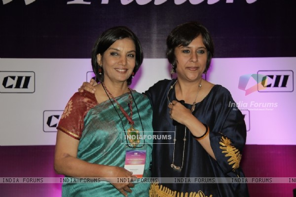 "Shabana Azmi and Barkha Dutt at CII Organizes ""New Indian Woman"" Summit in Mumbai"