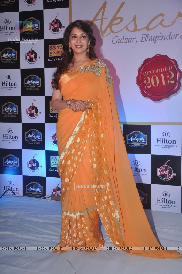 Madhuri Dixit at the launch of Gulzar's Album 'Aksar'