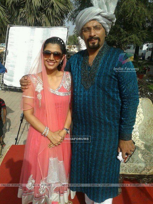 Ankita with Amit Behl on sets of Dekha Ek Khwaab