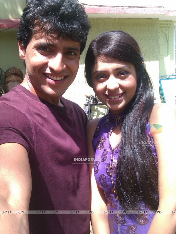 Neha Sargam and Sattyam Seth on sets of Haar Jeet