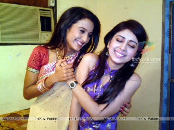 Neha Sargam and Heena Parmar on sets of Haar Jeet