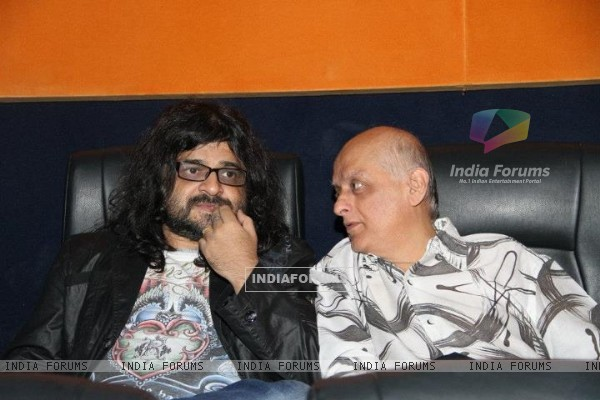 Pritam and Mukesh Bhatt at the premiere of Jannat 2 at Diera City Centre Dubai