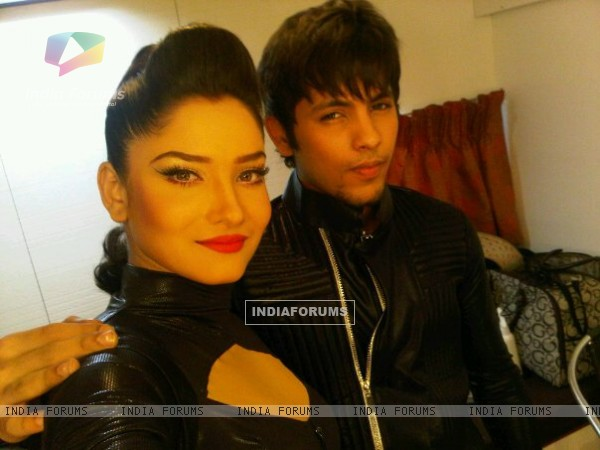 Ankita And Nishant On The Sets Of Jhalak Dikhala Jaa Getting Ready For Their Act