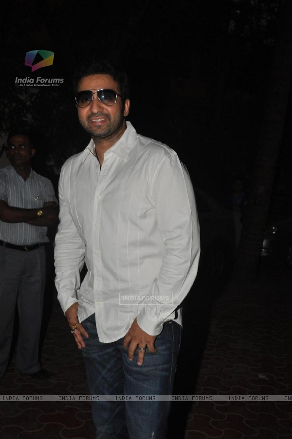 Raj Kundra at Shilpa Shetty Baby Shower function