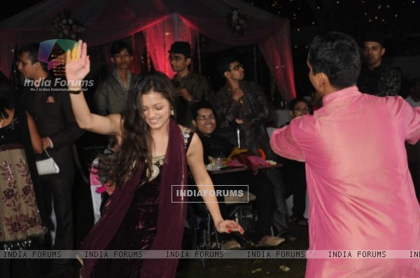 Drashti Dhami at friends wedding