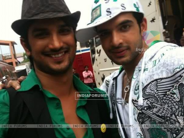 Sushant Singh Rajput, Karan Kundra, On The Sets Of Zara Nachake Dikha