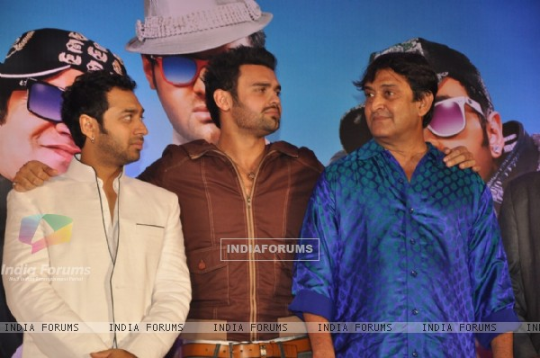 Hiten Paintal, Mimoh Chakraborty and Mahesh Manjrekar at Film Tukkaa Fitt first look launch
