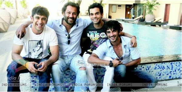 Sushant Singh Rajput, Abhishek Kapoor, Amit Sadh, Raj Kumar Yadav At The First Press Conference Of Kai Po Che