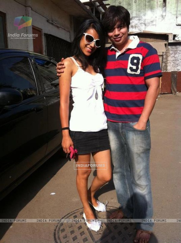 Nia Sharma with co star Gaurav Kumar