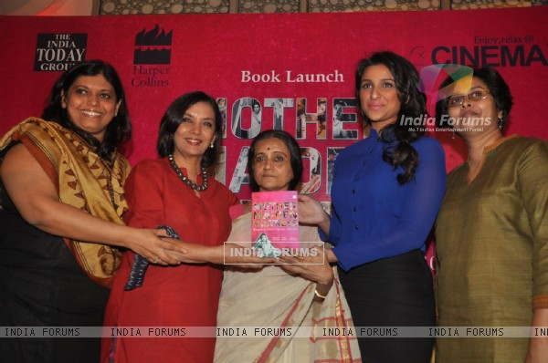 Shabana Azmi, Bhawana Somaaya, Parineeti Chopra at Mother Maiden Mistress book launch